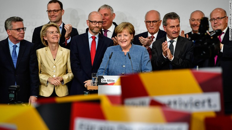 Merkel's party receives lowest support in years