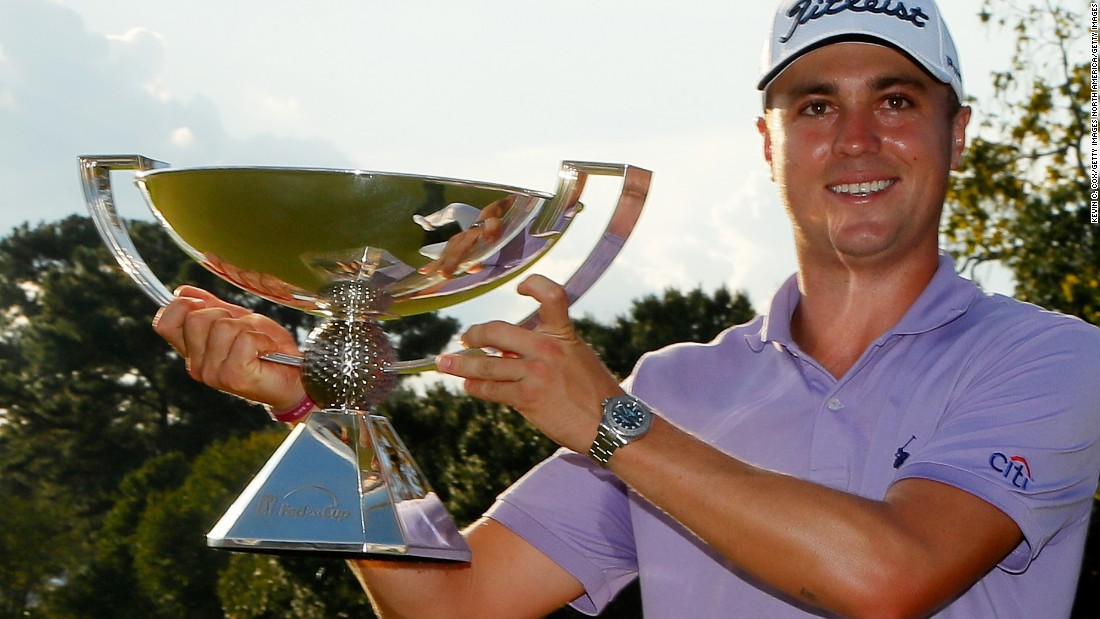 Justin Thomas made it three majors out of four for US male players in 2017 when he claimed the US PGA crown in August. Thomas would go on to win the FedEx Cup in September.