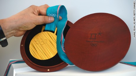 The PyeongChang 2018 Olympic gold medal
