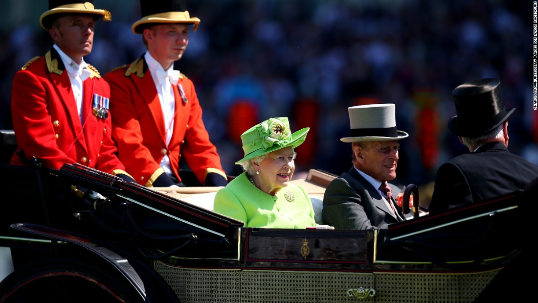 Queen Elizabeth II and Prince Philip, Duke of Edinburgh, opened Royal Ascot 2017 with the traditional procession up the course.