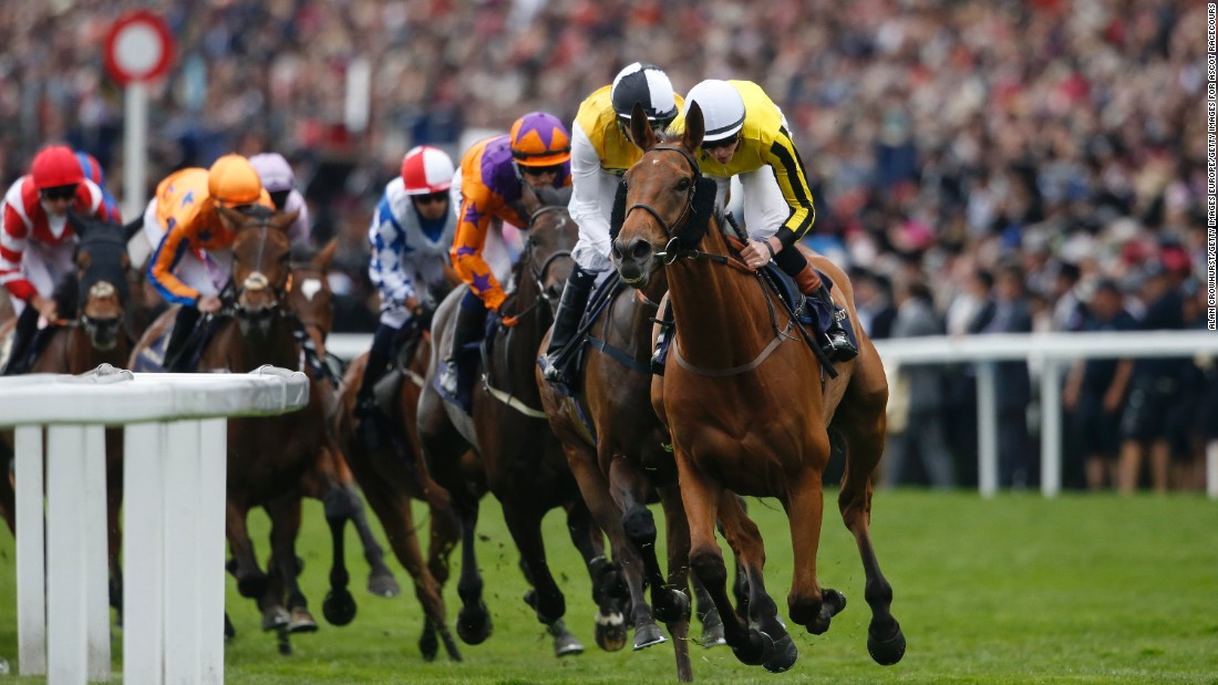 Big Orange, ridden by James Doyle, won the Gold Cup, the feature race on Ladies' Day at Royal Ascot.