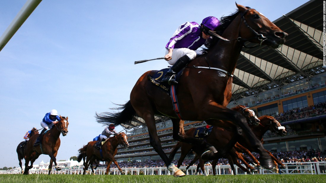 Jockey Ryan Moore rode Highland Reel to victory in the feature race of the day, the Prince of Wales's Stakes.