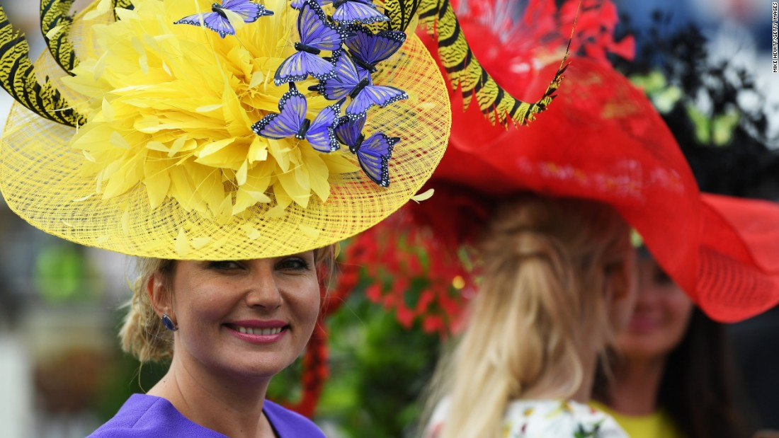 Ladies Day at Royal Ascot brought a stunning mix of color and high fashion to the Berkshire racecourse, west of London.