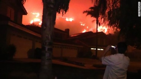 Mandatory evacuations have been ordered in an area of Corona due to the Canyon Fire.