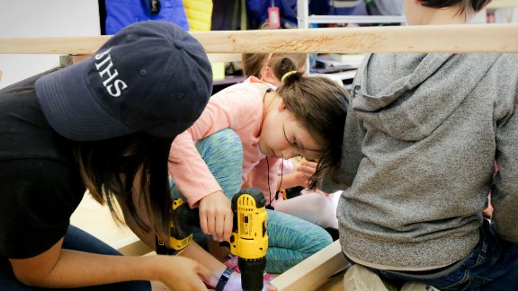 Children at Portfolio learn to build and assemble, using all sorts of tools.
