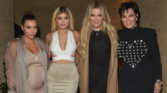 Kim Kardashian West, Kylie Jenner, Khloe Kardashian and Kris Jenner host a  dinner and preview of their new apps launching soon at Nobu Malibu on September 1, 2015 in Malibu, California.  (