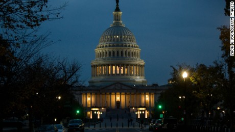 WASHINGTON, DC: The Capitol Building is pictured on November 8, 2016 in Washington, DC. Americans today will choose between Republican presidential candidate Donald Trump and Democratic presidential candidate Hillary Clinton as they go to the polls to vote for the next president of the United States. (Zach Gibson/Getty Images)