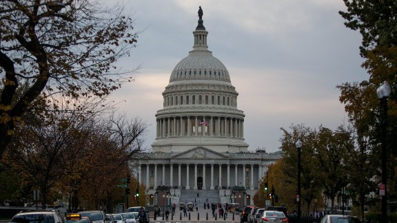 WASHINGTON, DC: The Capitol Building is pictured on November 8, 2016 in Washington, DC. (Photo by Zach Gibson/Getty Images)