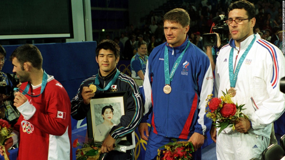 "Inoue defeated Nicolas Gill of Canada in the final. He carried a photo of his mother, who had died one year prior to the Games, onto the podium. ""To me, she was the best mother in the world and I wanted the world to see her,"" Inoue said at the time."