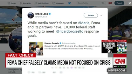 exp FEMA Chief falsely claims media not focused on Puerto Rico_00002001