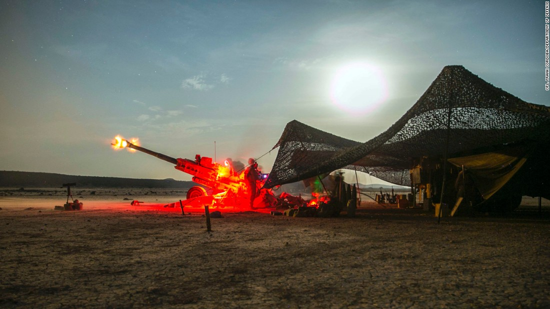 US Marines participate in a live-fire training exercise near Djibouti on Thursday, September 7.