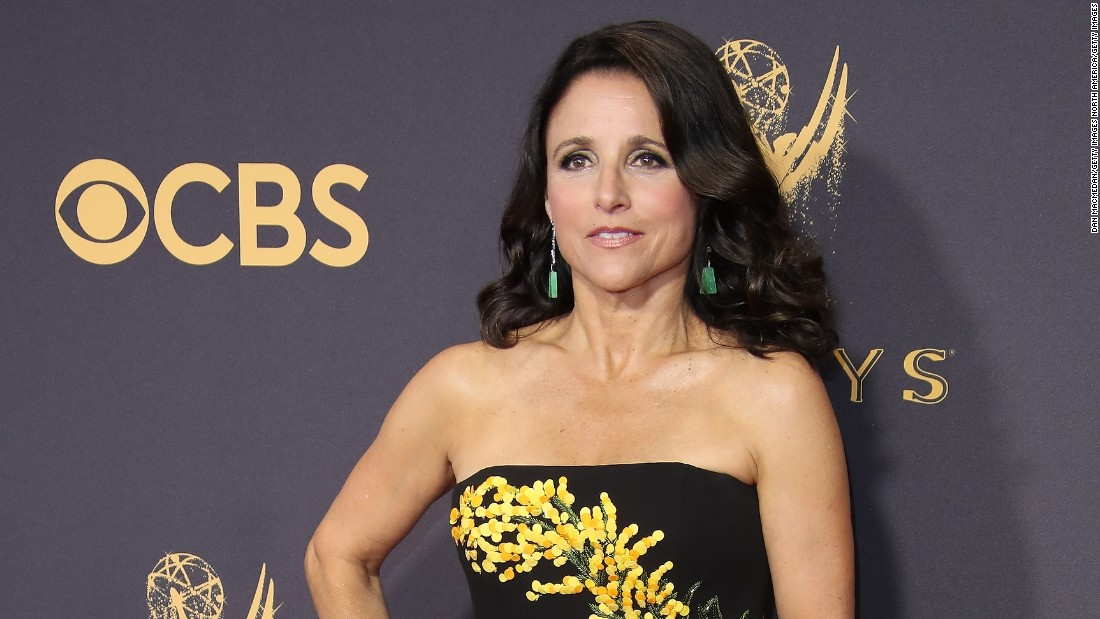 "Julia Louis-Dreyfus announced she has breast cancer in a post on her official Twitter account in September 2017. Louis-Dreyfus wrote that ""1 in 8 women get breast cancer. Today, I'm the one."""