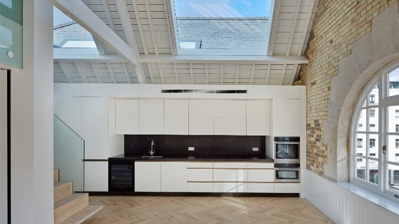 London studio Emry's Architect converted two warehouses into six luxury flats in Covent Garden.