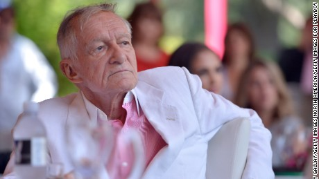 HOLMBY HILLS, CA - MAY 09:  Hugh Hefner attends Playboy's 2013 Playmate Of The Year luncheon honoring Raquel Pomplun at The Playboy Mansion on May 9, 2013 in Holmby Hills, California.  (Photo by Charley Gallay/Getty Images for Playboy)