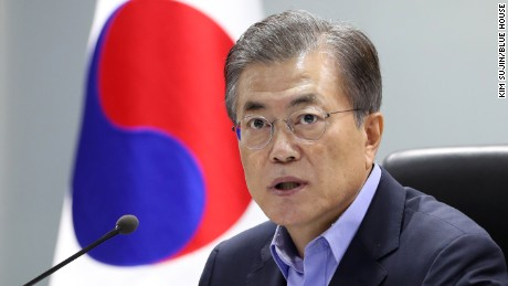 South Korean President Moon Jae-in speaks to CNN