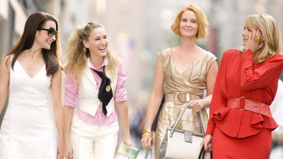 "Kristin Davis, Sarah Jessica Parker, Cynthia Nixon and Kim Cattrall in the 2008 ""Sex and the City"" movie."