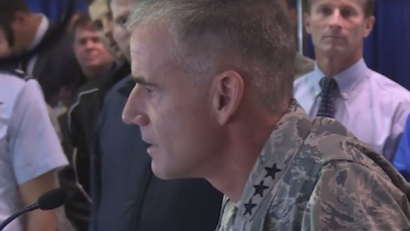 Air Force Academy Superintendent Lt. Gen Jay Silveria speaking to Cadets in Sept, 2017.