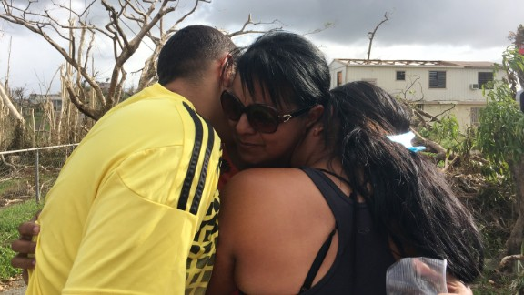 Carmen Delgado finally gets the chance to hug her son and her daughter.