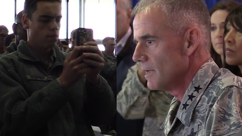 Air Force academy head to racists:'Get out'