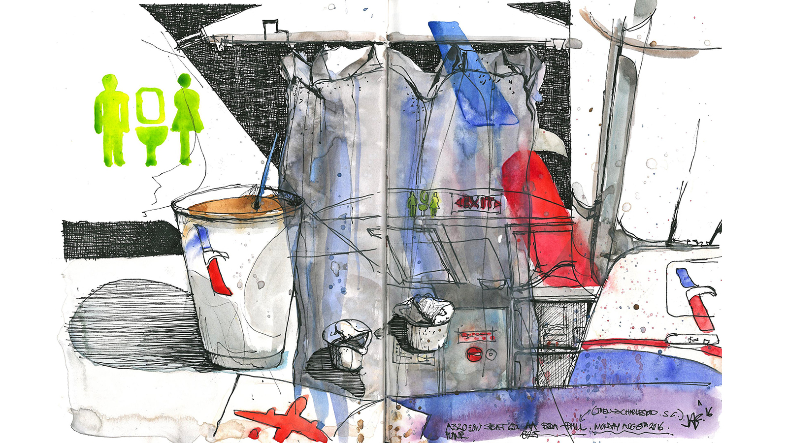 Painting on planes: Stunning sketches of airplane cabins | CNN Travel