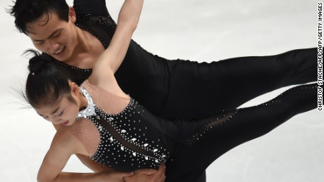 Figure skaters Ryom Tae-Ok and Kim Ju-sik perform to the music of The Beatles and have been training in Canada