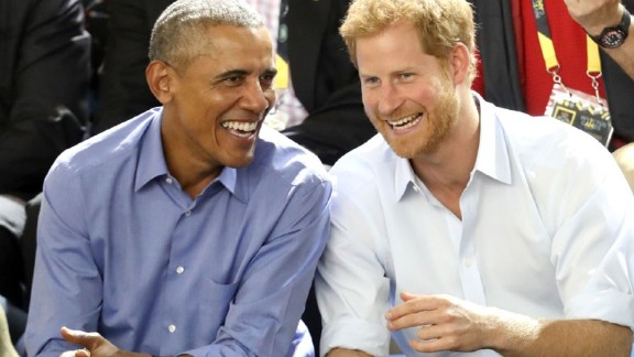 Barack Obama and Prince Harry share at laugh at this year