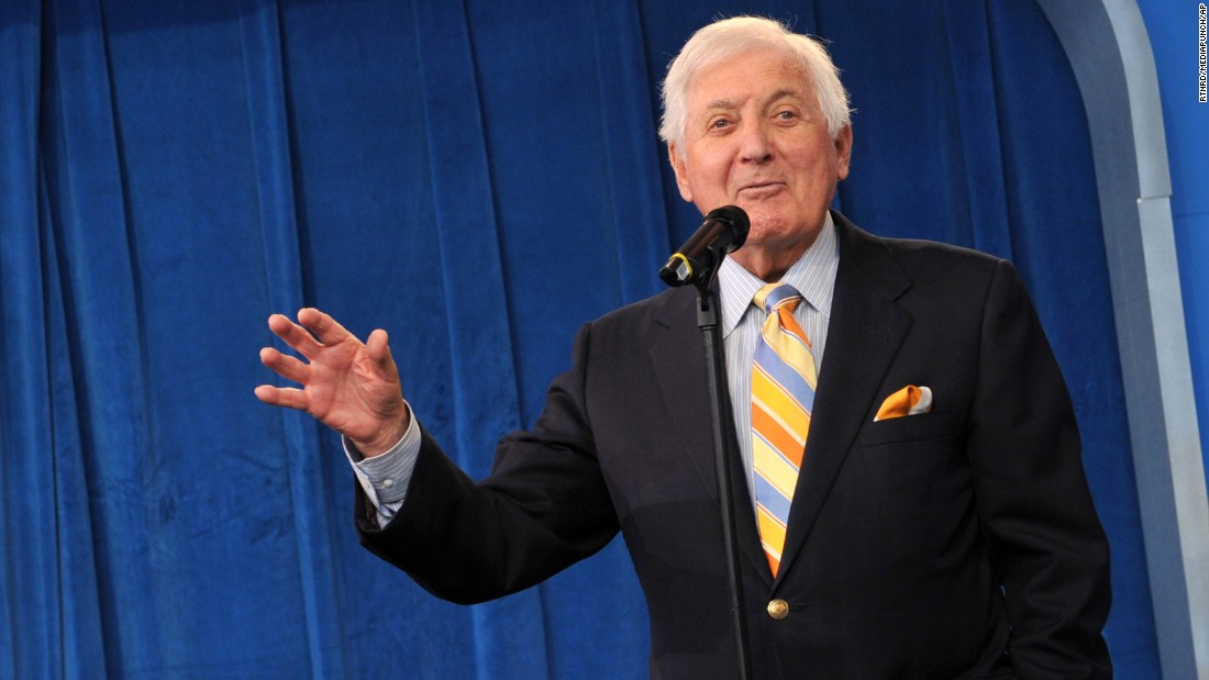 "Monty Hall is pictured at eBay's ""Let's Make A Daily Deal"" game show at Times Square Studios in New York City on June 23, 2009."