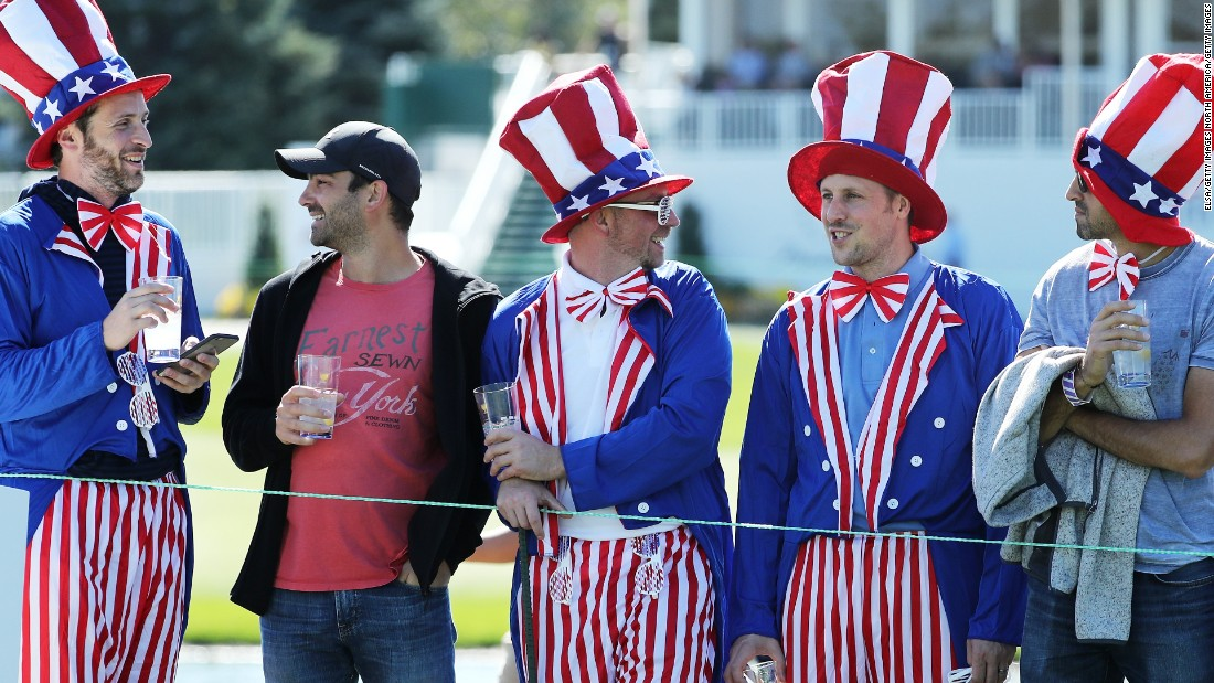 Some US fans got all dressed up for Sunday's play.