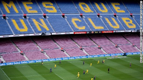 Barcelona's game against Las Palmas in 2017 was played in an empty stadium.