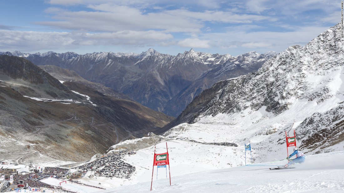 Soelden in Austria is the traditional setting for the FIS World Cup alpine skiing season-opener.