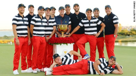 The US won their seventh straight Presidents Cup in October.