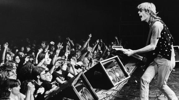 Petty performs at a concert in Santa Cruz, California, in 1980.