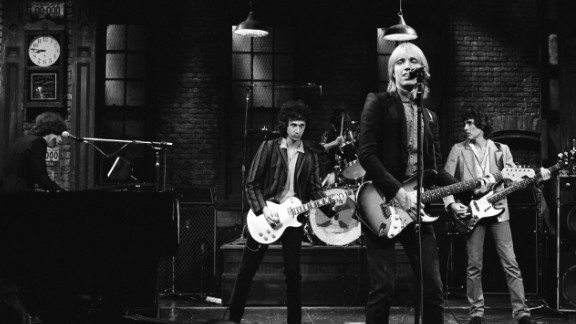 "Tom Petty and the Heartbreakers perform on ""Saturday Night Live"" in November 1979. A month earlier, they had released their third album ""Damn the Torpedoes,"" which included hit songs ""Refugee"" and ""Don"
