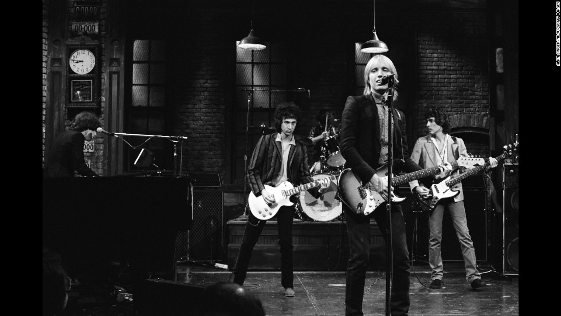 "Tom Petty and the Heartbreakers perform on ""Saturday Night Live"" in November 1979. A month earlier, they had released their third album ""Damn the Torpedoes,"" which included hit songs ""Refugee"" and ""Don't Do Me Like That."""