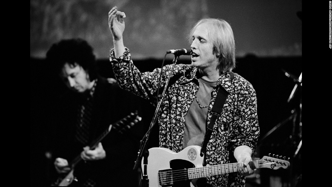 "Petty performs in the San Francisco Bay Area in October 1991. That year, he and the Heartbreakers released their album ""Into the Great Wide Open,"" which included the single ""Learning to Fly."""
