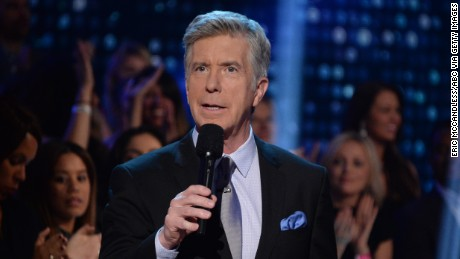 "Tom Bergeron hosts during the season premiere of ""Dancing with the Stars"" on September 18."