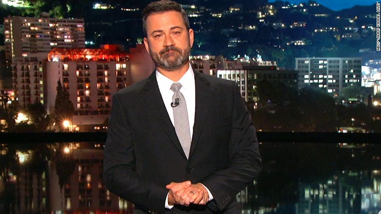 Kimmel gives an emotional plea to lawmakers
