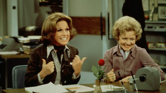 "At an age when most acting careers start winding down, White found even bigger success as Sue Ann Nivens, the man-hungry ""happy homemaker"" on ""The Mary Tyler Moore Show"" in the 1970s. She was the perfect foil for star Mary Tyler Moore, left, and she won two Emmys for best supporting actress in a comedy series."