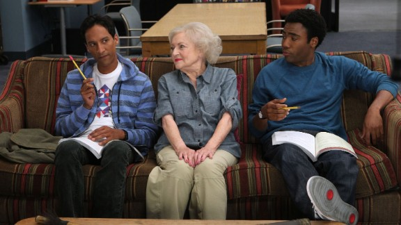 "White appears with Danny Pudi and Donald Glover while guest-starring as an eccentric professor on ""Anthropology 101"" in 2010."