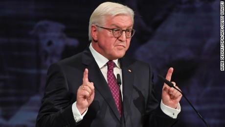 """There must never be a route back to nationalism,"" German President Frank-Walter Steinmeier said in a speech to mark the country's Day of German Unity."