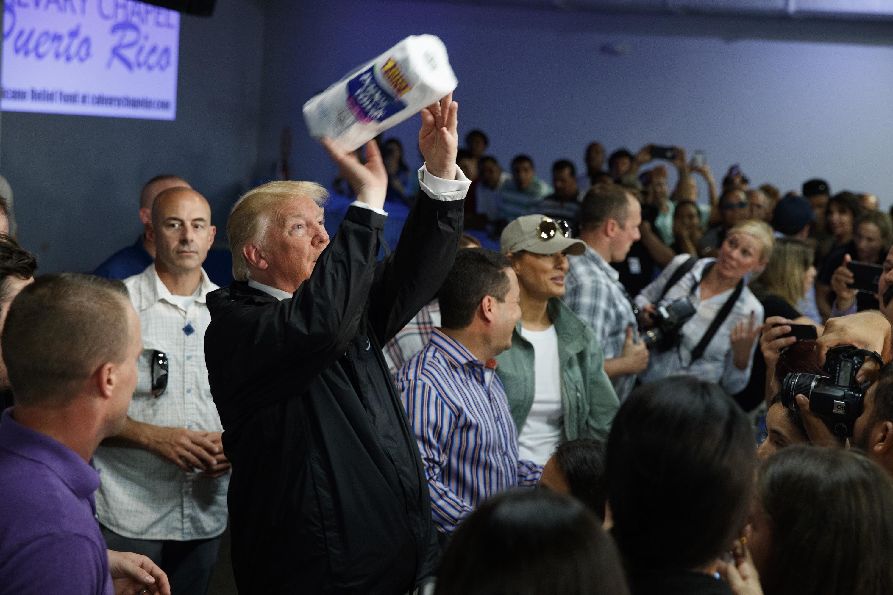 Trump throws paper towels in Puerto Rico - CNN Video