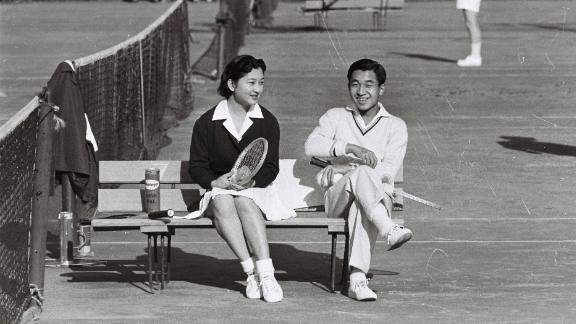 Akihito met his future wife, Michiko Shoda, at a tennis tournament. He was the first Japanese Emperor to marry someone outside of the aristocracy.