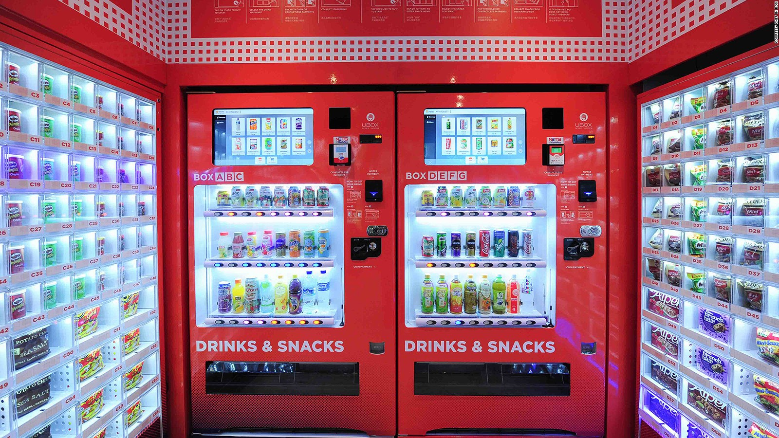 Singapore vending machines dispense amazing array of things
