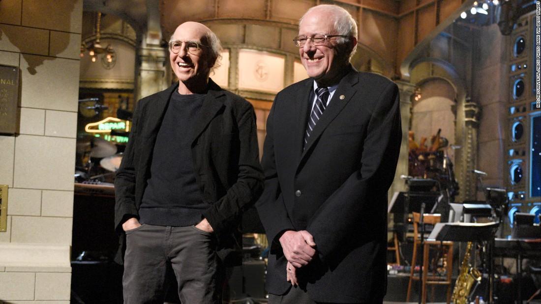 Larry David und Bernie Sanders Handel Witze auf 'Heute-Show'