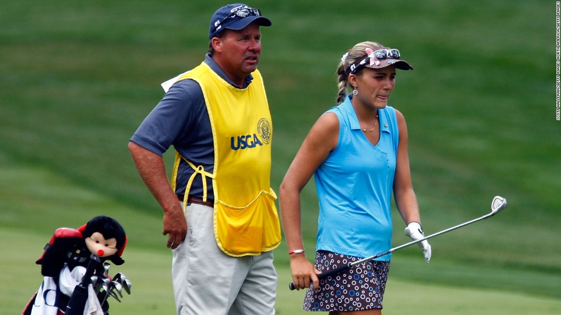 With her dad as caddy in 2009, Thompson qualified for her third successive US Women's Open, this time making the cut and finishing an impressive tied 34th.