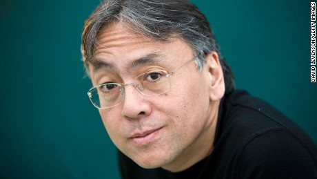Ishiguro poses for a portrait at The Hay Festival in Wales in May 2010.