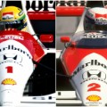 senna prost collage