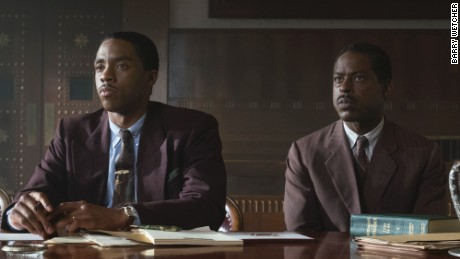 Chadwick Boseman and Sterling K. Wilson in 'Marshall'