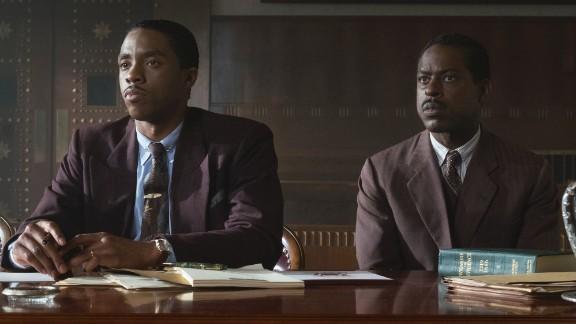 Chadwick Boseman and Sterling K. Wilson in 'Marshall'