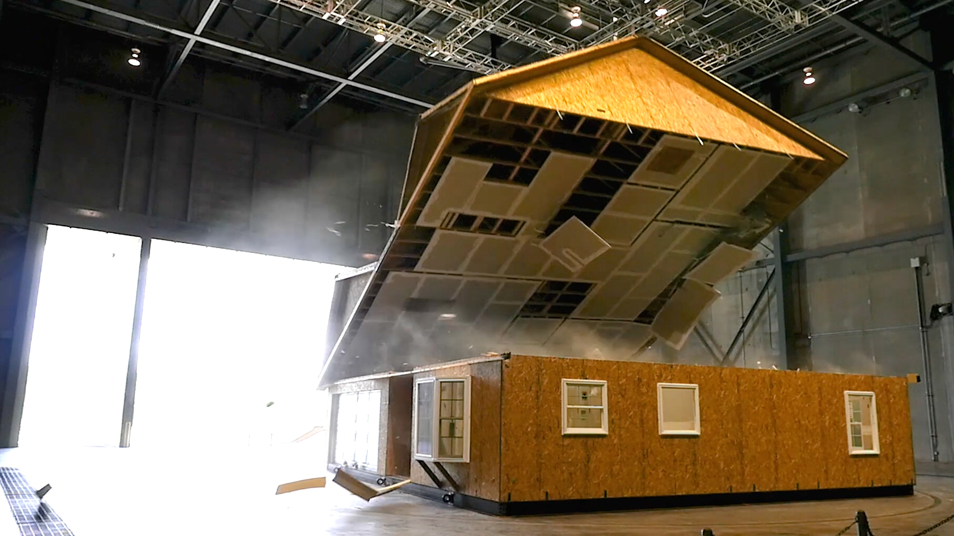 Watch what winds over 100 mph do to this house on hurricane proof house designs, home interior design, safe room design,